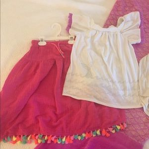 Cat & Jack Girls Outfit Sz. 7/8 Skirt & Top